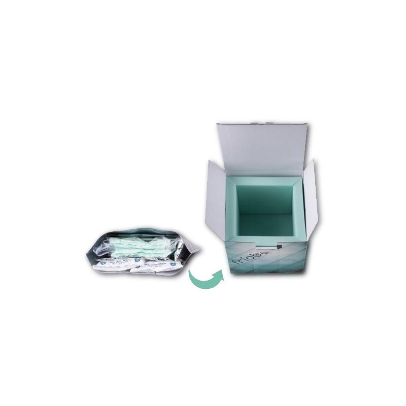 Caja de espuma de poliuretano plegable