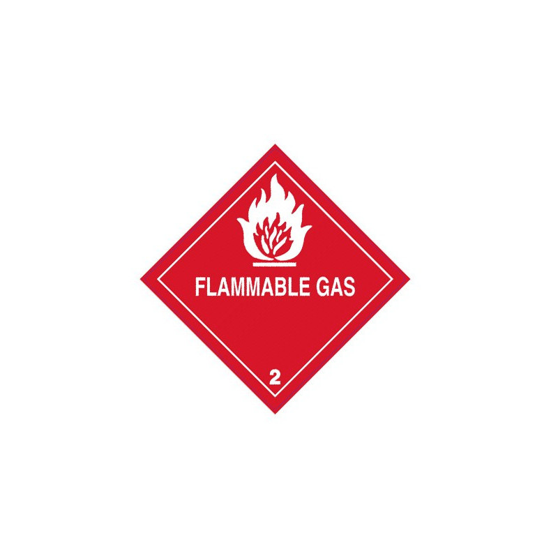"""Class 2 Label """"Flammable Gas"""""""