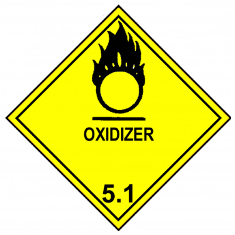 """Class 5 Label """"Oxidizer"""""""