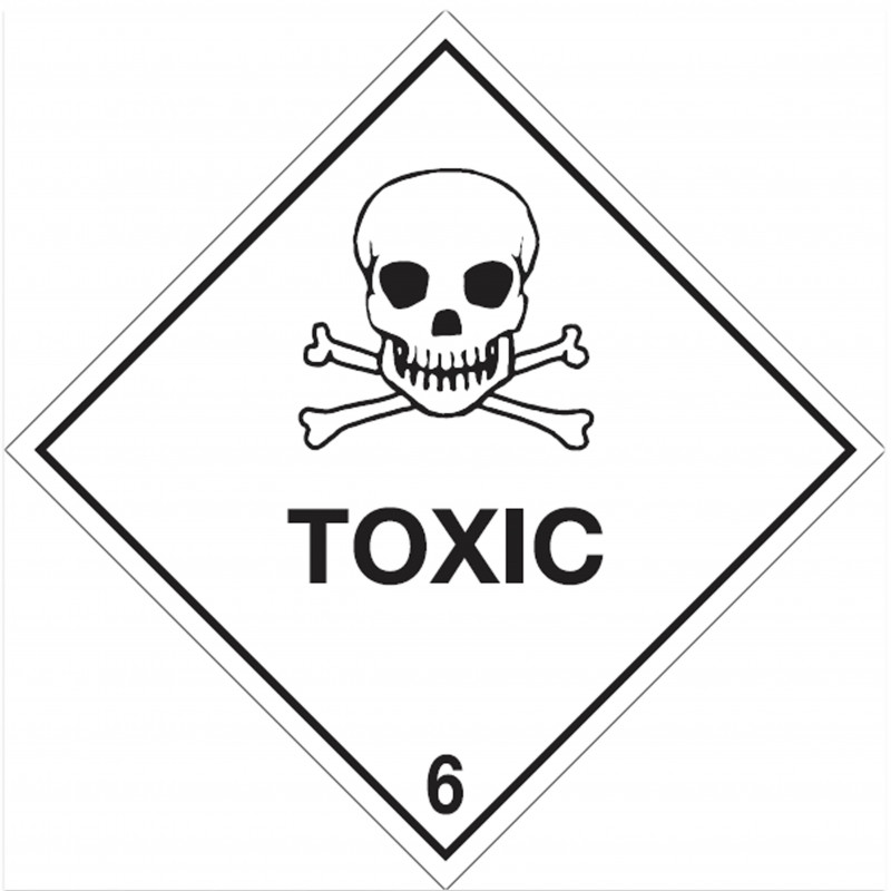 "Class 6 Label ""Toxic Substance"""