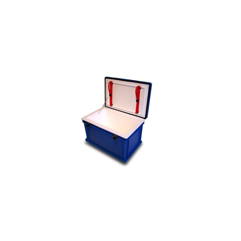Polyethylene isothermal box with lid