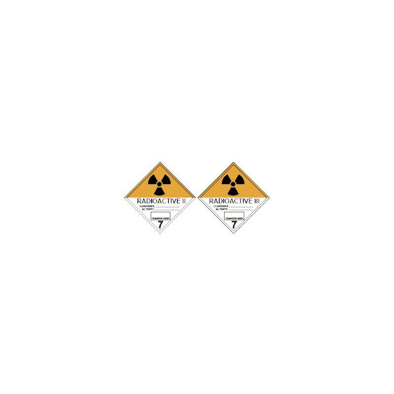 "Class 7 Label ""Radioactive Material"""